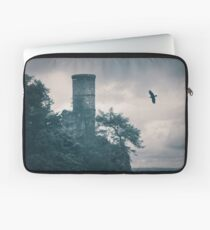 """""""The Tower Of Kinnoull Hill"""" by Cat Burton Laptop Sleeve"""