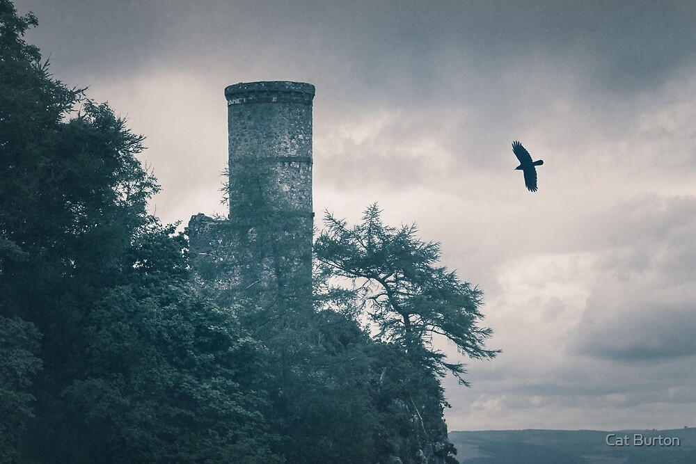 """The Tower Of Kinnoull Hill"" by Cat Burton by Cat Burton"