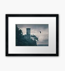 """The Tower Of Kinnoull Hill"" by Cat Burton Framed Print"
