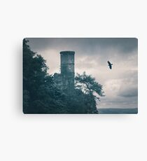 """The Tower Of Kinnoull Hill"" by Cat Burton Canvas Print"