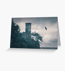 """""""The Tower Of Kinnoull Hill"""" by Cat Burton Greeting Card"""