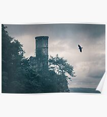"""""""The Tower Of Kinnoull Hill"""" by Cat Burton Poster"""