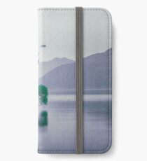 """""""The Tree In The Lake"""" by Cat Burton iPhone Wallet/Case/Skin"""