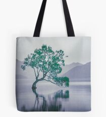 """The Tree In The Lake"" by Cat Burton Tote Bag"