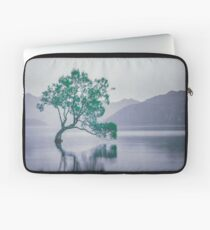 """""""The Tree In The Lake"""" by Cat Burton Laptop Sleeve"""