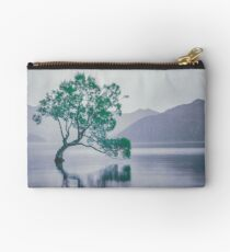 """""""The Tree In The Lake"""" by Cat Burton Studio Pouch"""