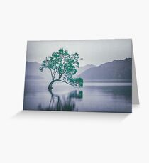 """""""The Tree In The Lake"""" by Cat Burton Greeting Card"""