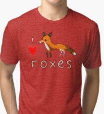 Fox Love Tri-blend T-Shirt