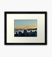 Downtown Vancouver and English Bay Framed Print