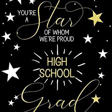 High School Graduation Black Gold by SalonOfArt