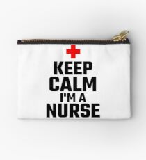 Keep Calm I'm A Nurse Studio Pouch