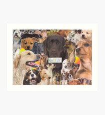Woof! Art Print