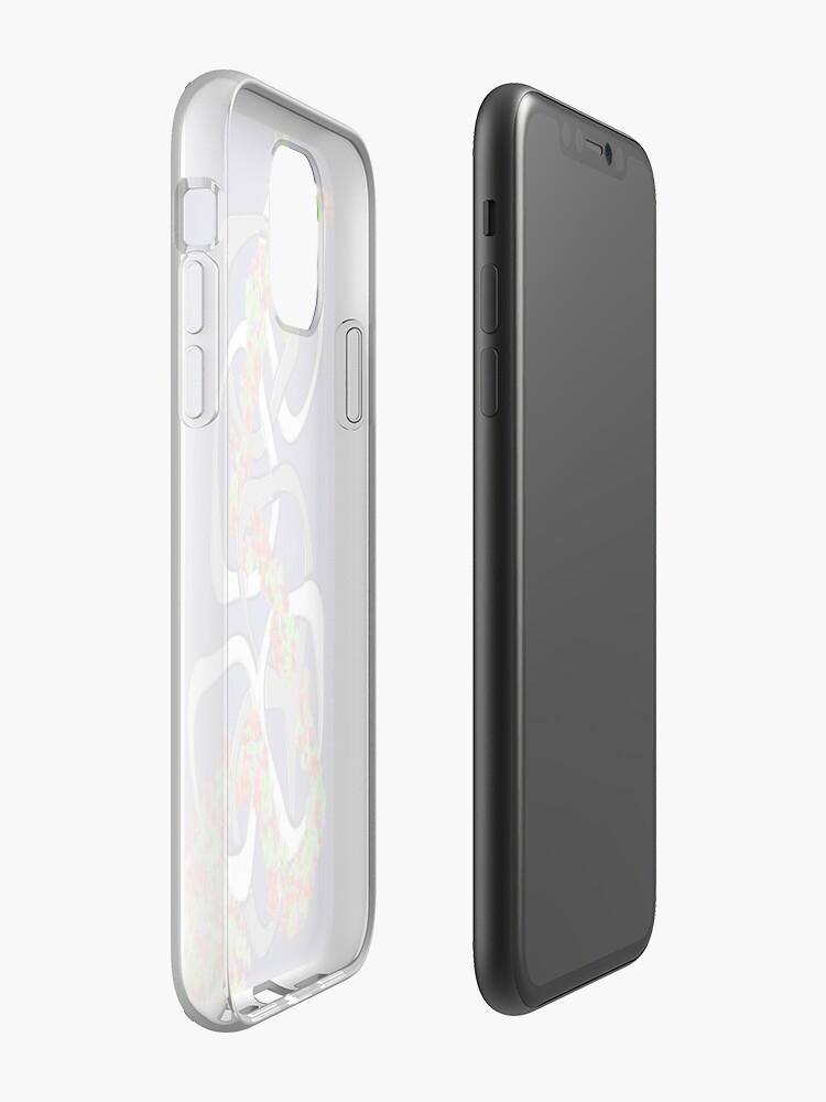 coque design iphone x | Coque iPhone «Cascade de fleurs arc-en-ciel», par JLHDesign