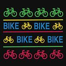 COLORFUL Small Bikes in a Line by JoannieKayaks