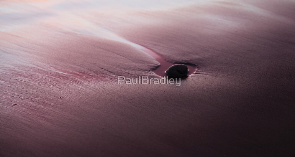 Stone on sand by PaulBradley