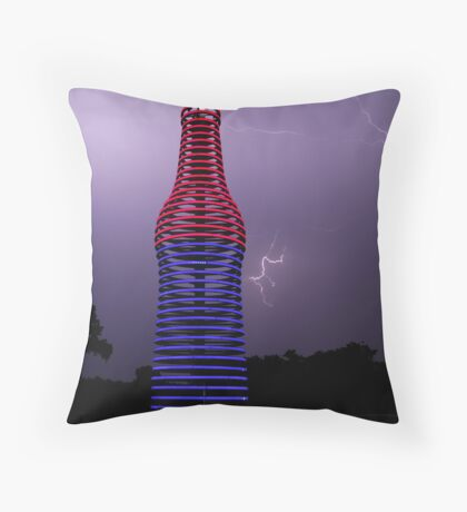 Red, White and Pops Throw Pillow