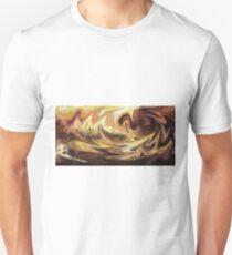 Emotional Waves Abstract Artwork T-Shirt