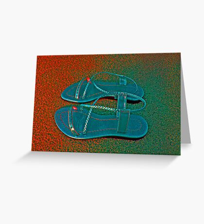 SLIPPERS Greeting Card