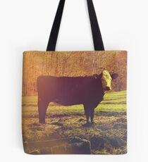 On The Farm - Photography - Nature Photography - Cow Tote Bag