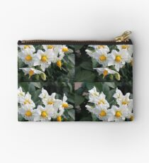 Blossoms White And Yellow Garden Blossoms Studio Pouch