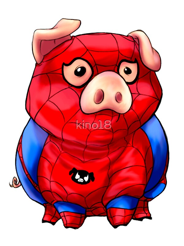 """""""Spider-Pig"""" Stickers by kino18"""