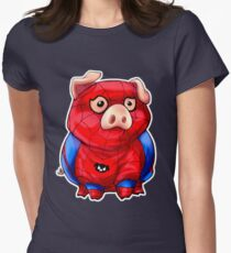 Spider-Pig Women's Fitted T-Shirt