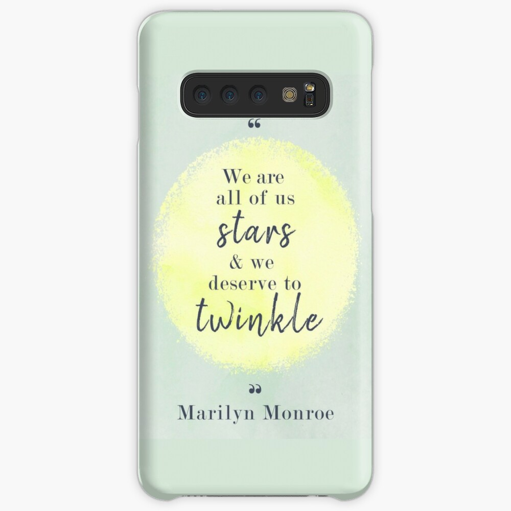 Marilyn Monroe Quote Case & Skin for Samsung Galaxy