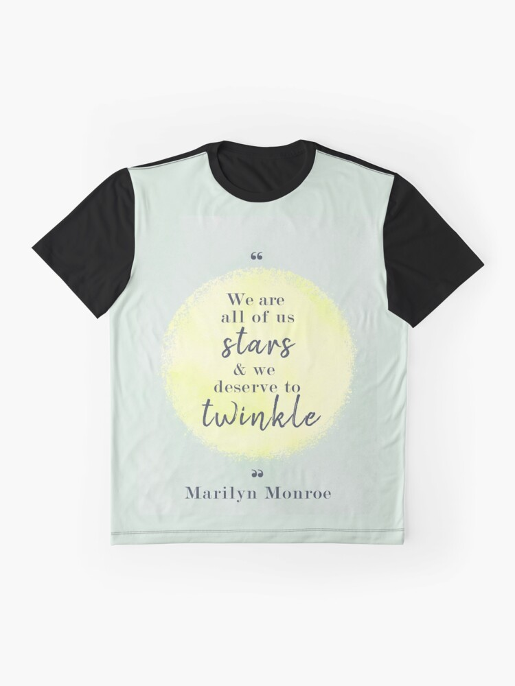 Alternate view of Marilyn Monroe Quote Graphic T-Shirt