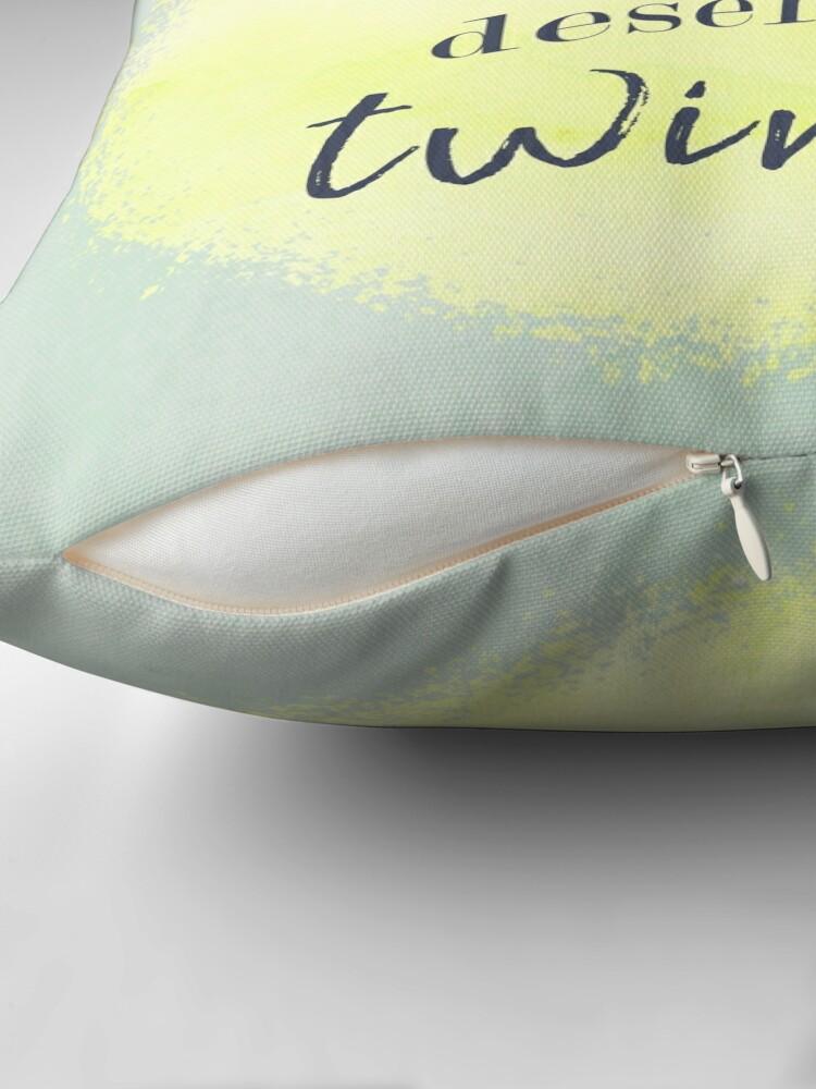 Alternate view of Marilyn Monroe Quote Floor Pillow