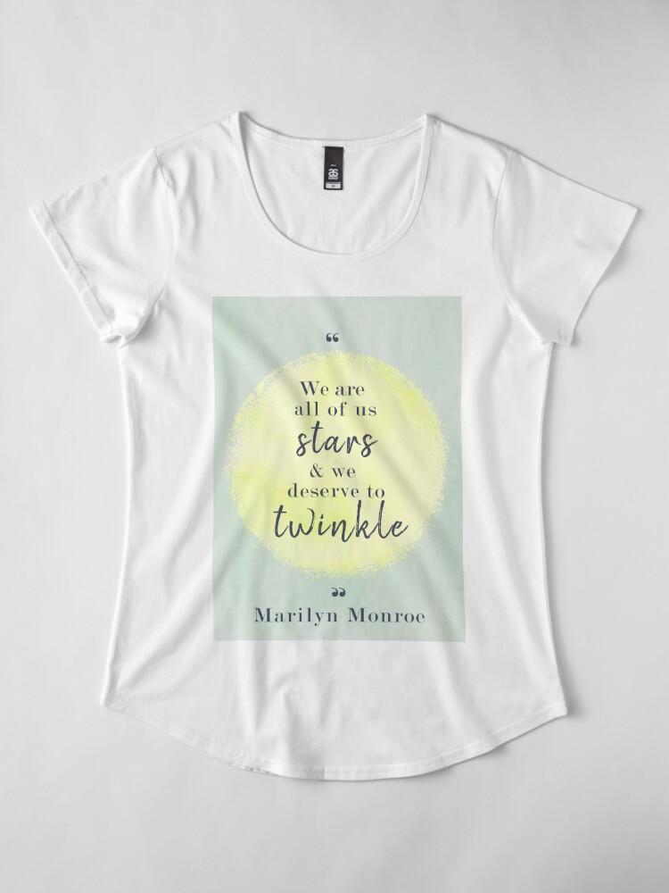 Alternate view of Marilyn Monroe Quote Premium Scoop T-Shirt