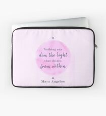 Maya Angelou Famous Quote Laptop Sleeve