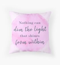 Maya Angelou Famous Quote Throw Pillow
