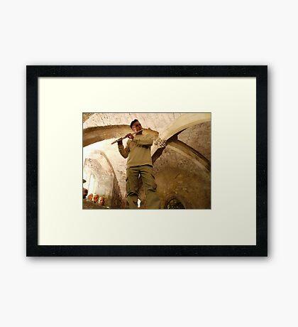Bill in the Undercroft Framed Print