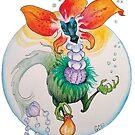 Blooming Fancy Tea Dragon - sticker by GwenPhifer