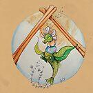 Sugar & Spice Blooming Tea Dragon by GwenPhifer