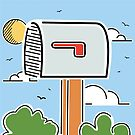 World's Largest Mailbox Illustration | Big Things Small Town | Casey Illinois by Big Things Small Town