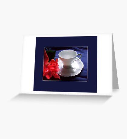 Demitasse, White Greeting Card