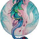 Blooming Tea Witch Dragon - sticker by GwenPhifer