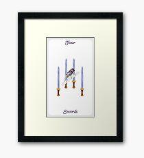 Lámina enmarcada Cuatro de espadas