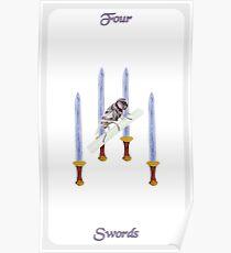 Póster Cuatro de espadas