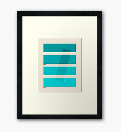 COLOR BURN 1 Framed Print