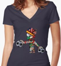 World Cup Mummy! Women's Fitted V-Neck T-Shirt
