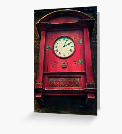 The Old Post Office Clock Greeting Card