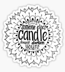 Light someone's candle zentangle medallion Sticker