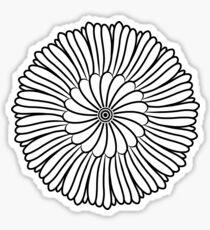 Pegatina Flor dibujada a mano