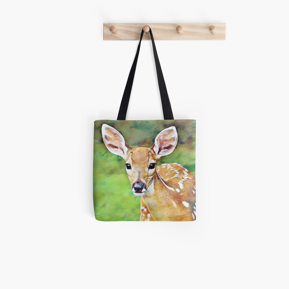 Fawn Baby Deer Artwork Illustration Tote Bag