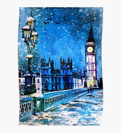 Winter in London Poster