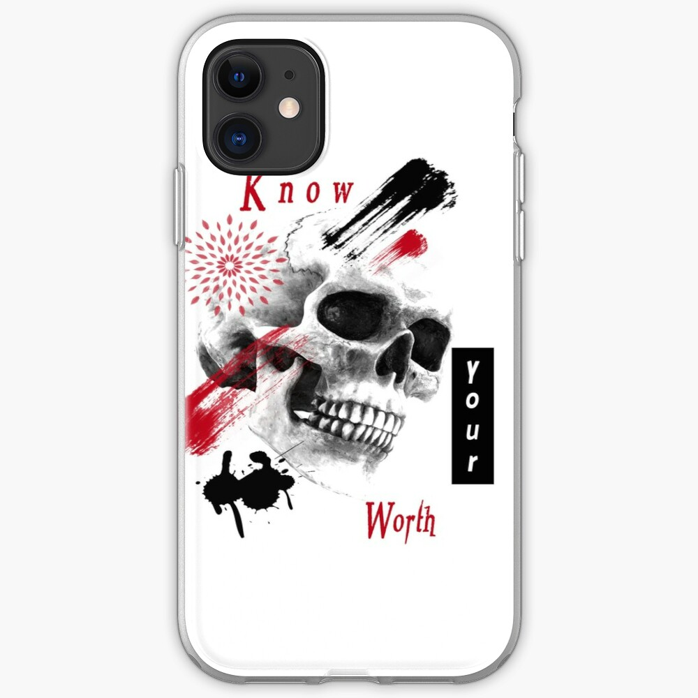 Know your worth! iPhone Case & Cover