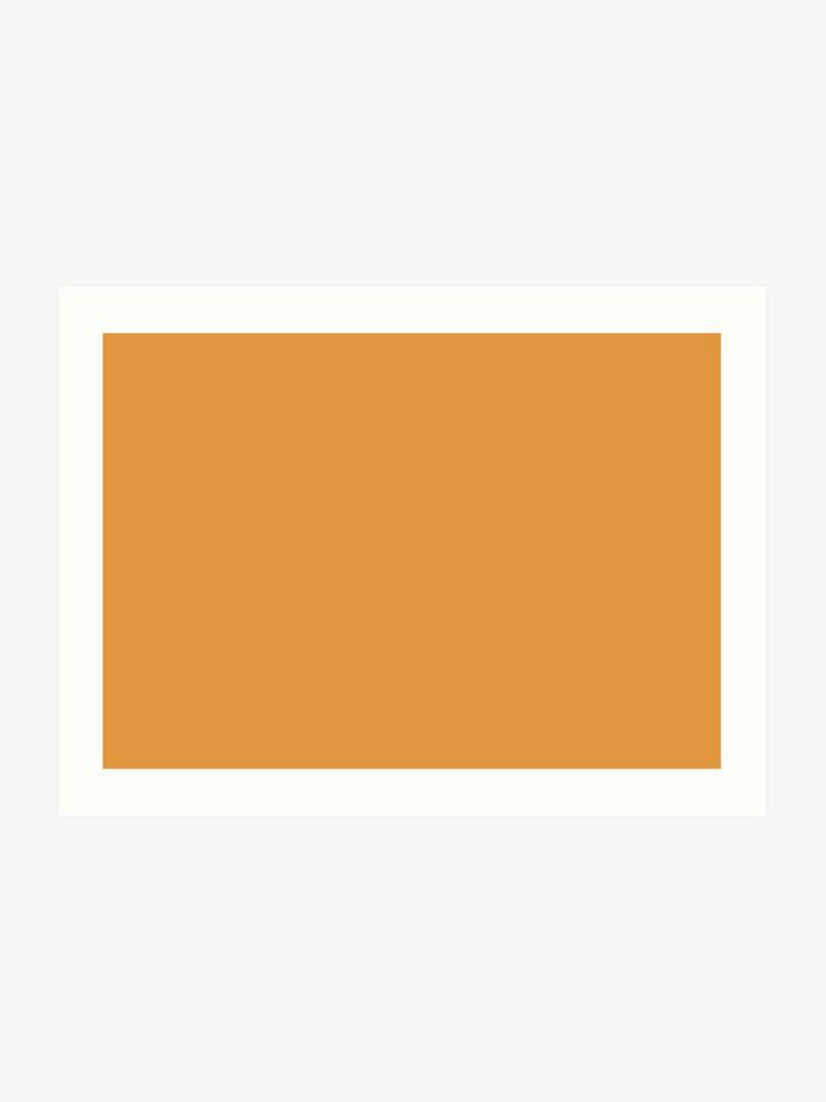 Butterscotch 15-1147 TCX | Pantone | Color Trends | London | Fall Winter  2019 2020 | Solid Colors | Fashion Colors | | Art Print