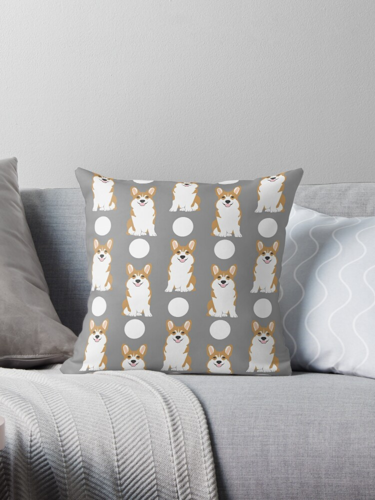 Quot Corgi Polka Dot Pattern Grey Cute Corgi Dog For Dog